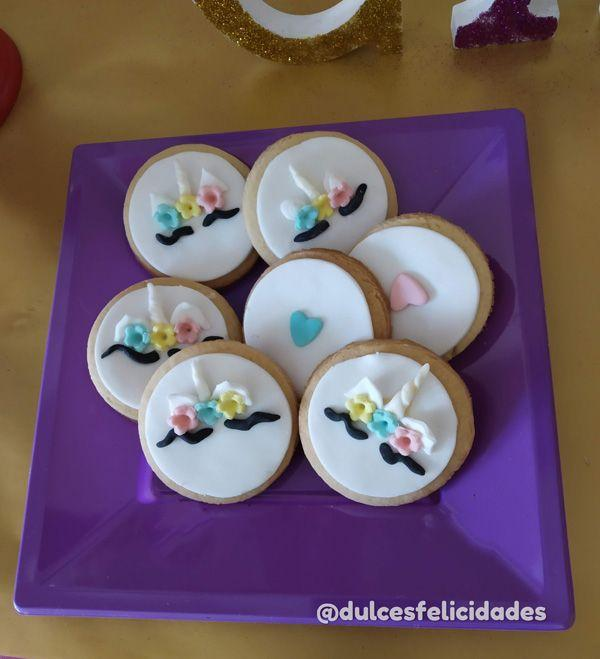 galletas fondant unicornio