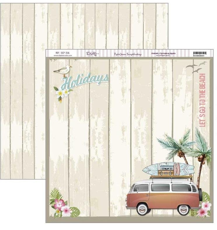 papel scrap fiesta tropical holydais