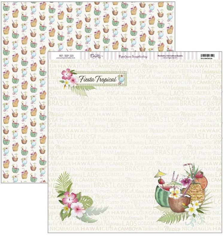 Papel scrap fiesta tropical