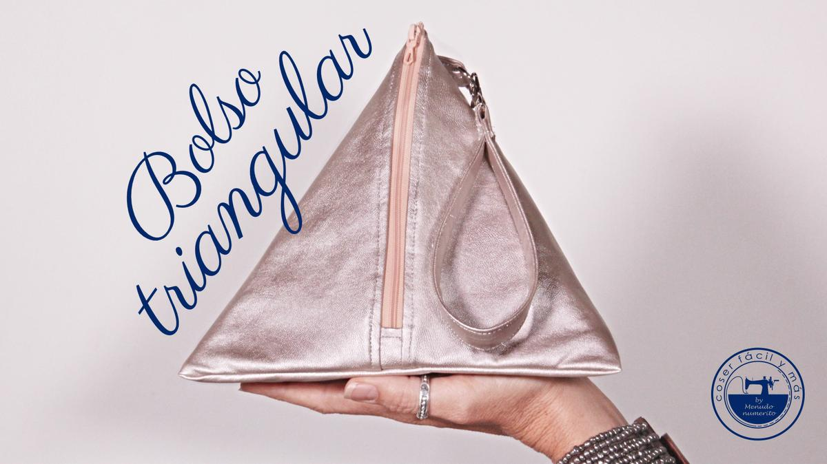 bolso triangular polipiel coser facill blogs de costura