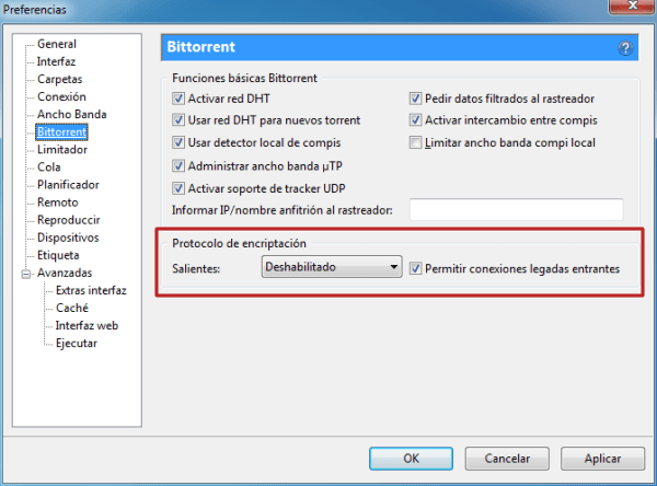 Configurar uTorrent - Preferencias 6