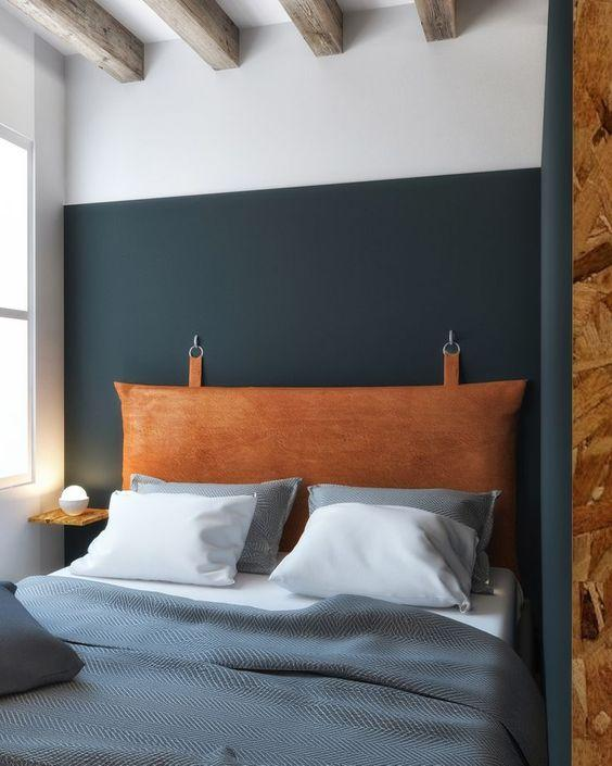 Cabecero de cama de cuero
