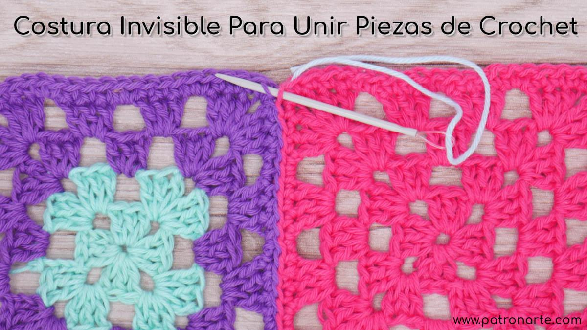 Costura Invisible para Unir Piezas de Crochet - Ganchillo Ideal Para Granny Square