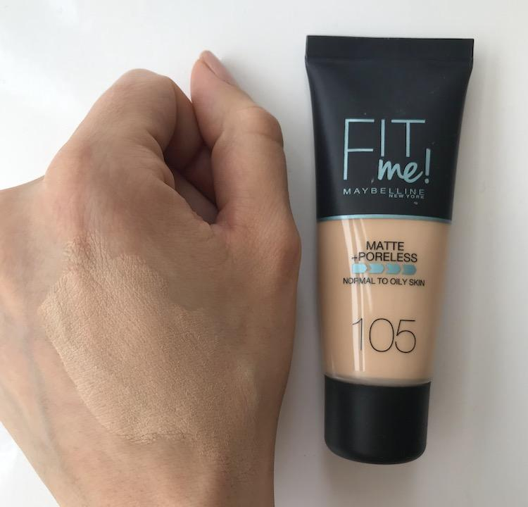 base Fit Me de Maybelline swatches