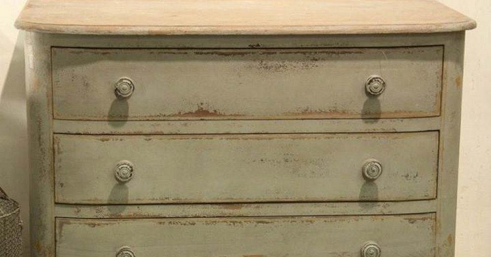 C mo pintar un mueble en blanco envejecido bricolaje - Muebles rusticos en blanco ...