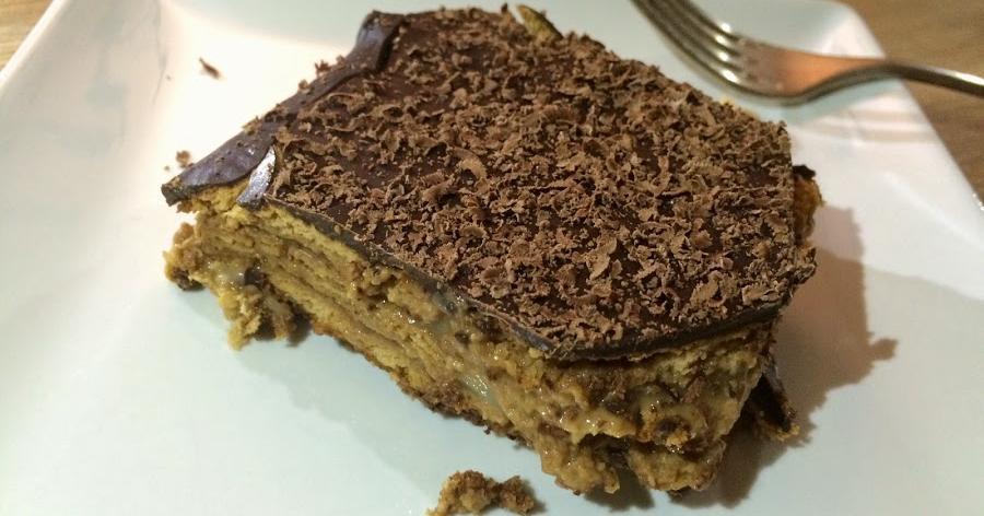Tarta de galletas, chocolate y natillas. ¿Todavía no has tenido el placer de probar esta tarta?