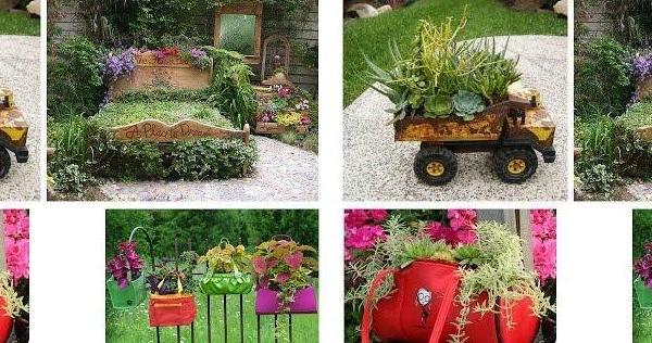 200 ideas para reciclar en el jard n diy jardiner a plantas for Ideas para decorar el jardin reciclando