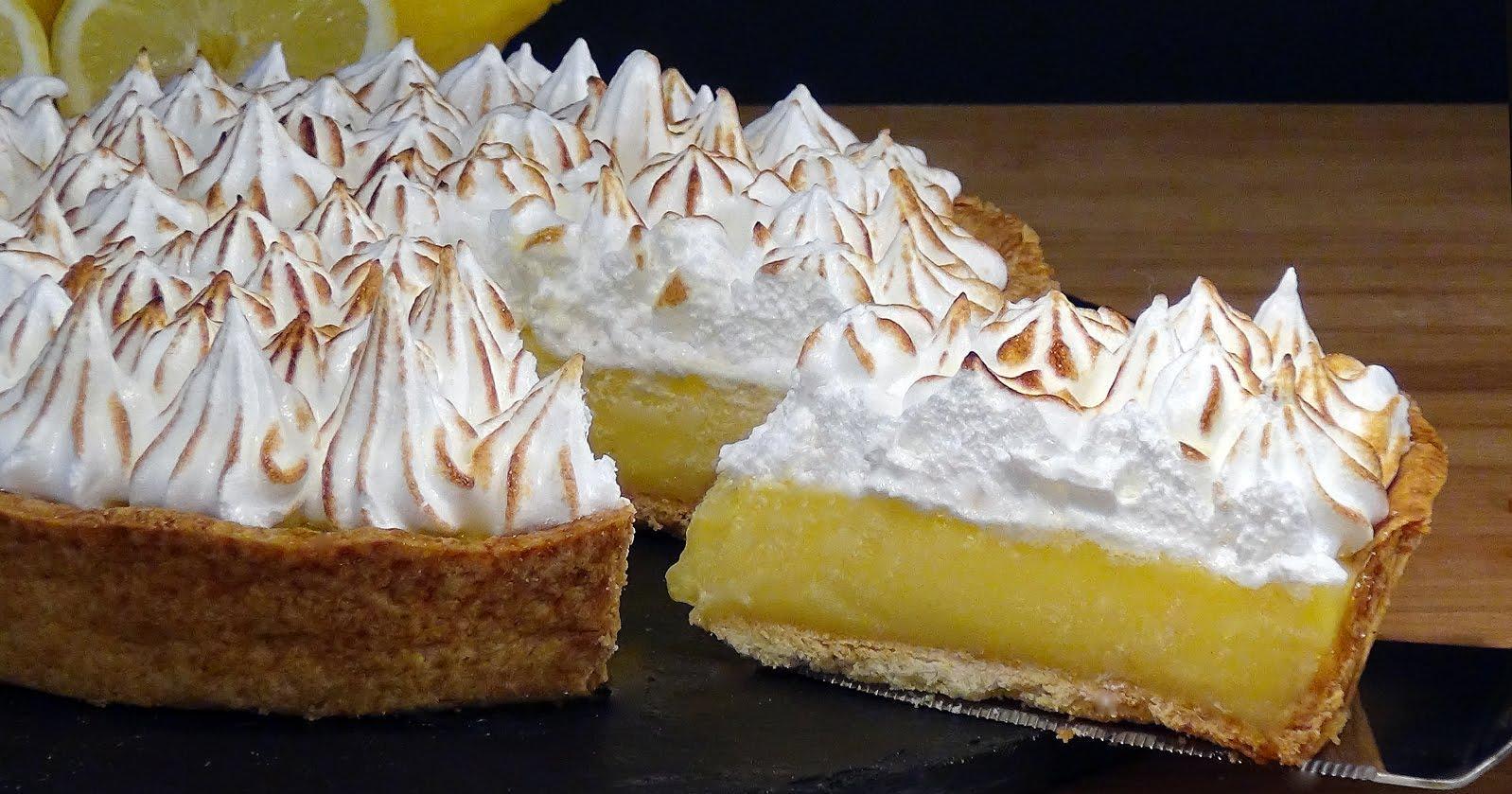 Tarta de crema de limón con merengue o Lemón Pie. ¡Para los más golosos!