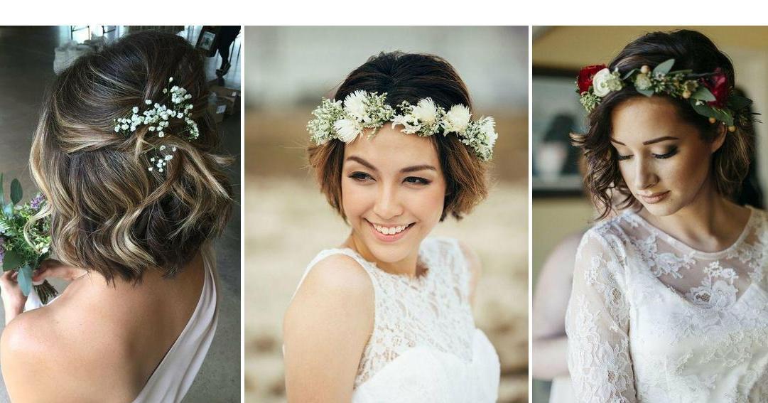 Peinados de novia melena corta