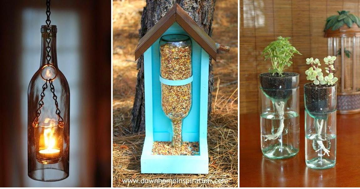 Botellas de cristal recicladas: ¡mira todo lo que podemos hacer con ellas!
