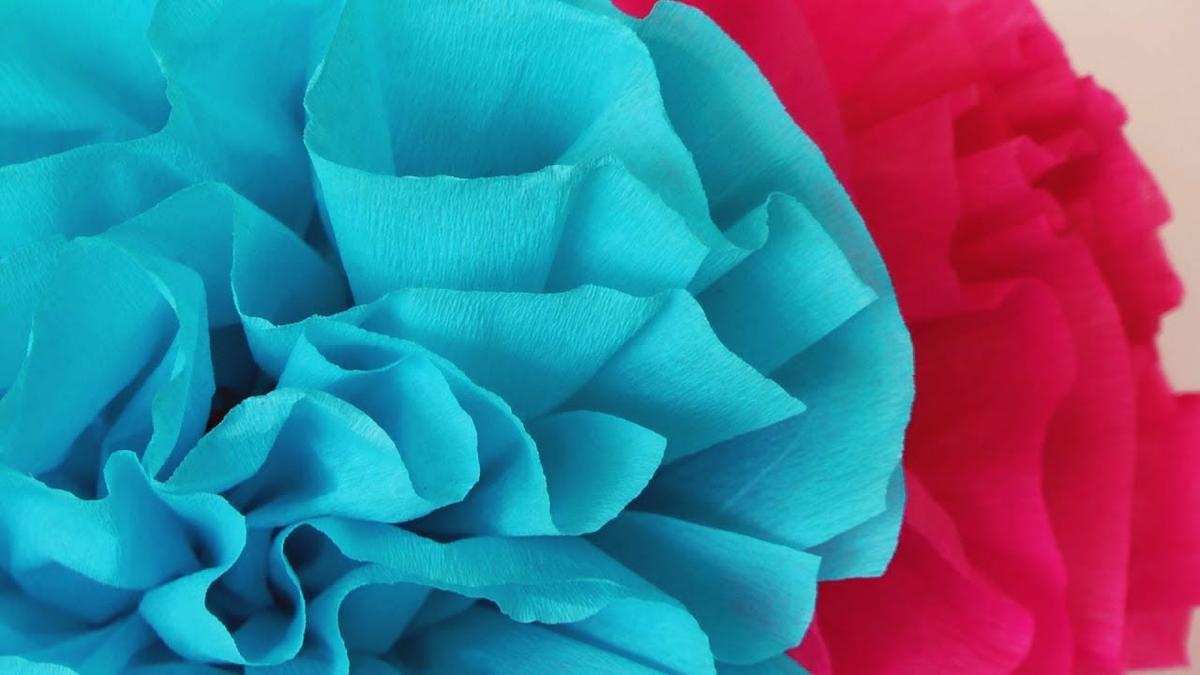Flores De Papel Crepe Faciles Manualidades
