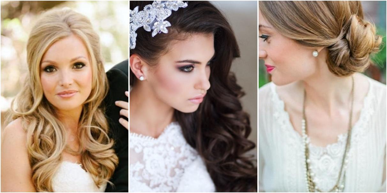 Peinados para novias con rostro redondo