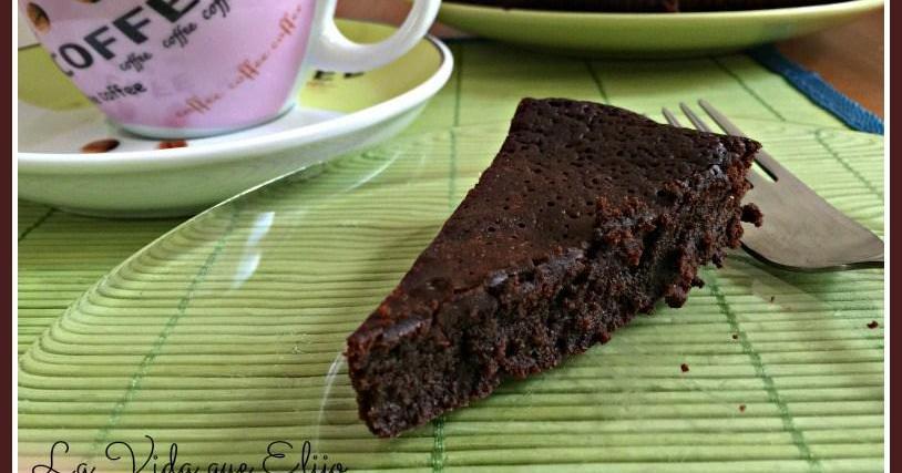 Torta de chocolate sin harina ni azúcar