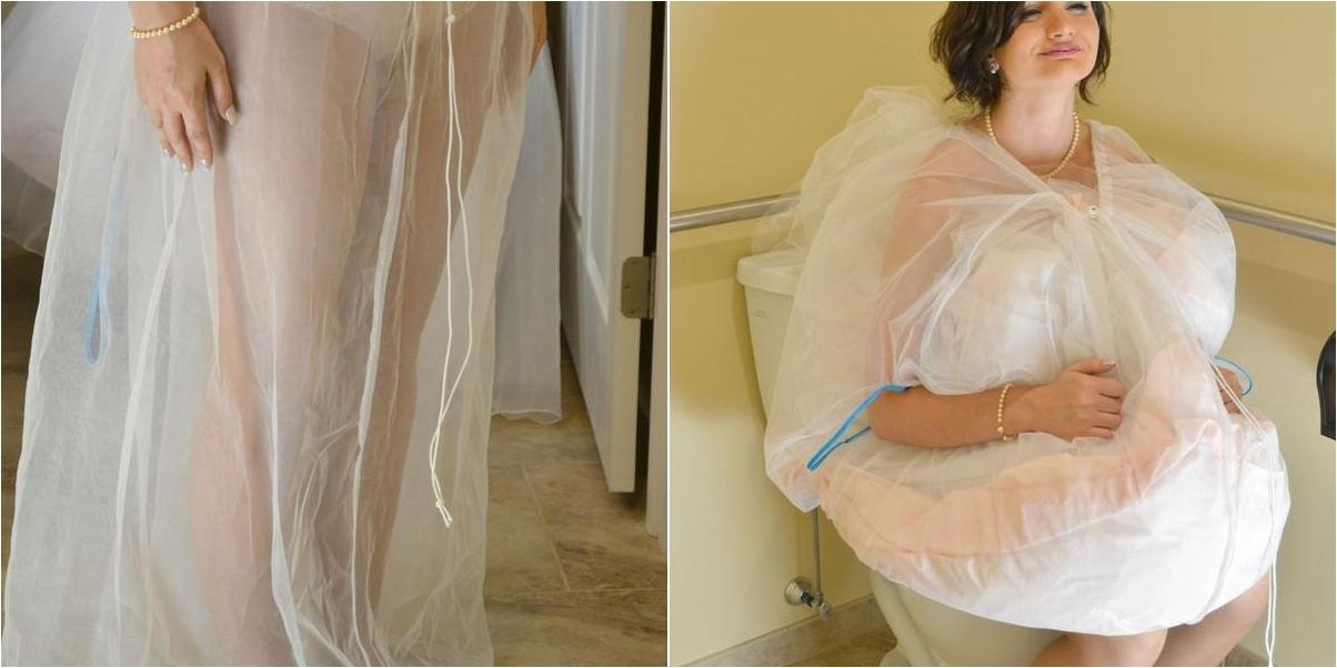 el invento que todas las novias querrán ¡para ir al baño!   bodas