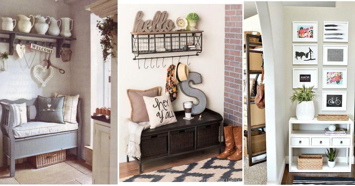 3365df622cf Más de 30 ideas para recibidores pequeños, ¡muy acogedores! | Decoración