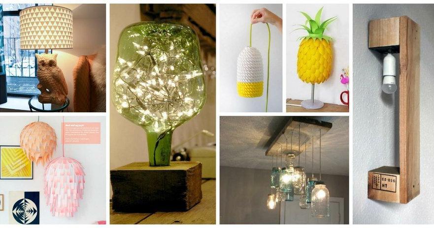 30 Ideas Para Hacer Tus Propias Lámparas Bricolaje