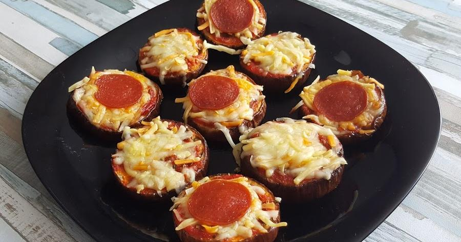 Mini pizzas de berenjenas