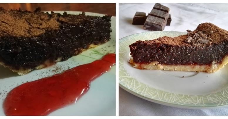 Tarta de chocolate y frambuesas