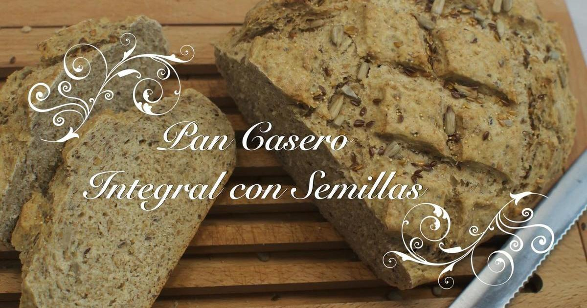 Pan casero integral con semillas