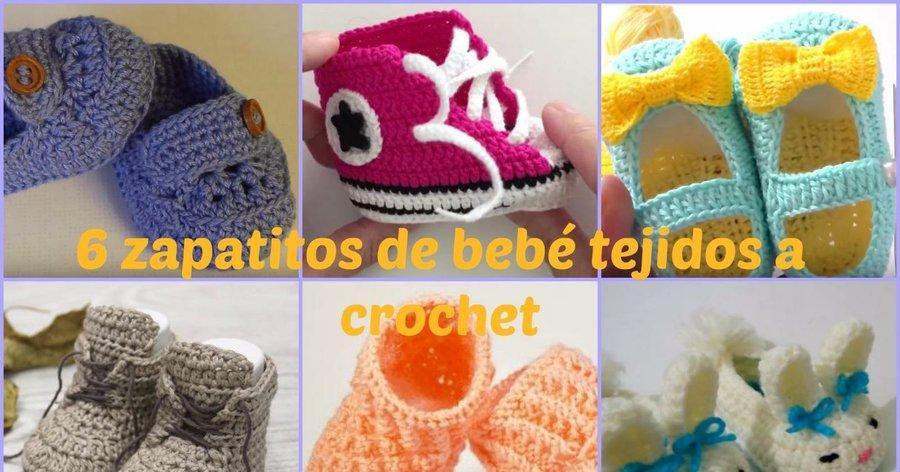 a4065235780 6 zapatitos de bebé tejidos a crochet