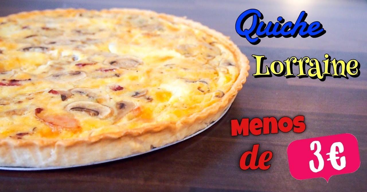 Quiche Lorraine versionada: de champiñones, mozzarella y beicon
