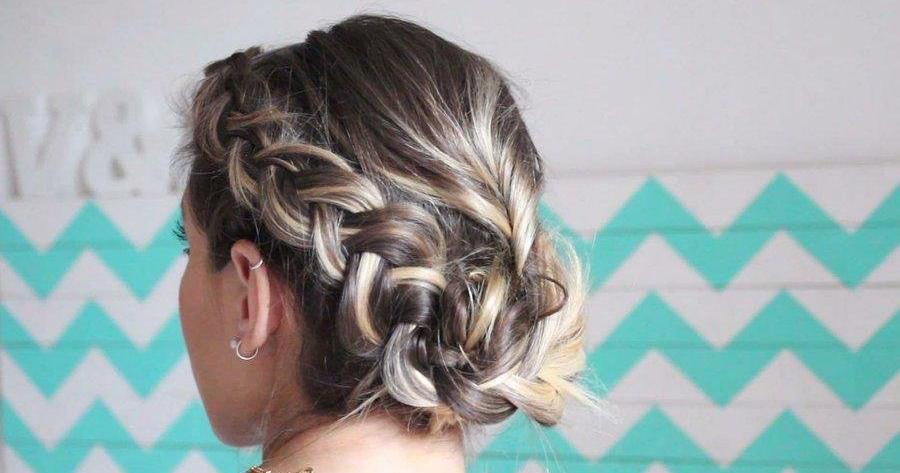 Peinados con trenzas faciles en cabello corto