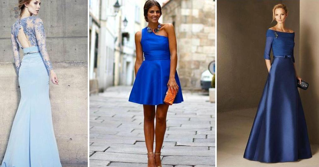 5368c6228 Vestidos azules para invitadas
