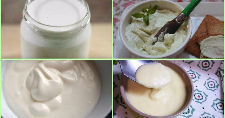 Mayonesa con leche y huevo