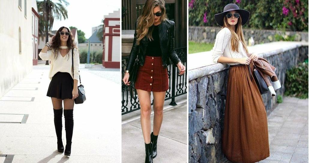 98f67126c6 Cómo combinar una falda negra  ¡looks con estilo!