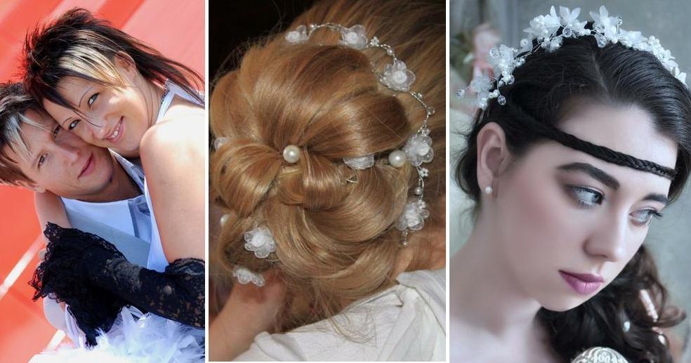 Peinados de novia extravagantes
