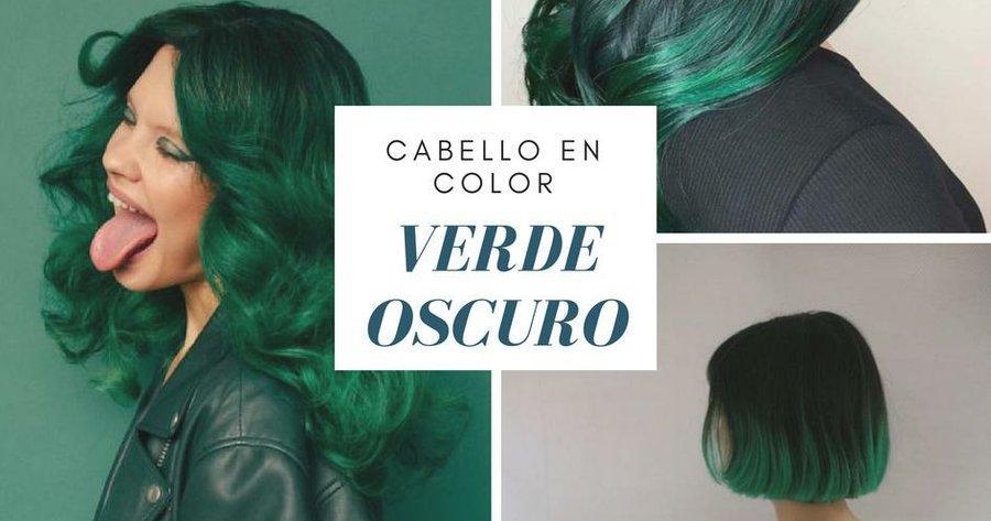 Cabello atrevido en color verde oscuro  0ee859faa822