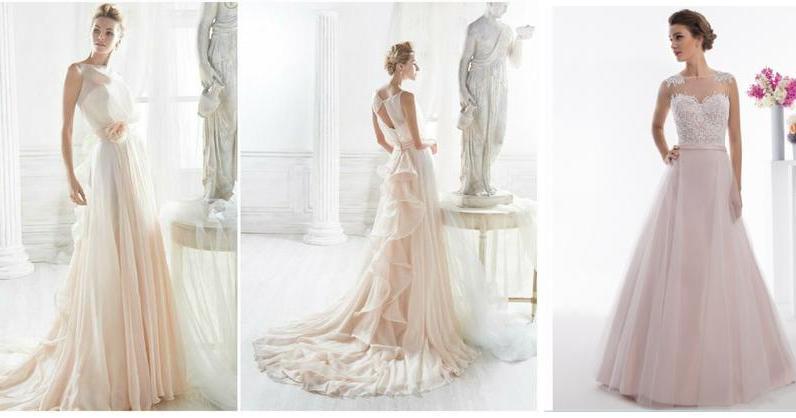 vestidos de novia para las amantes del rosa | bodas