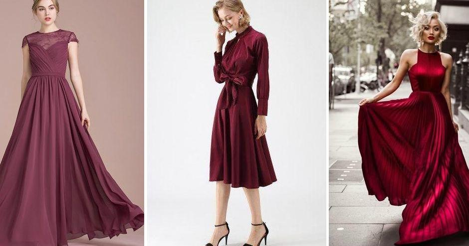 Vestidos color vino para gorditas 2019