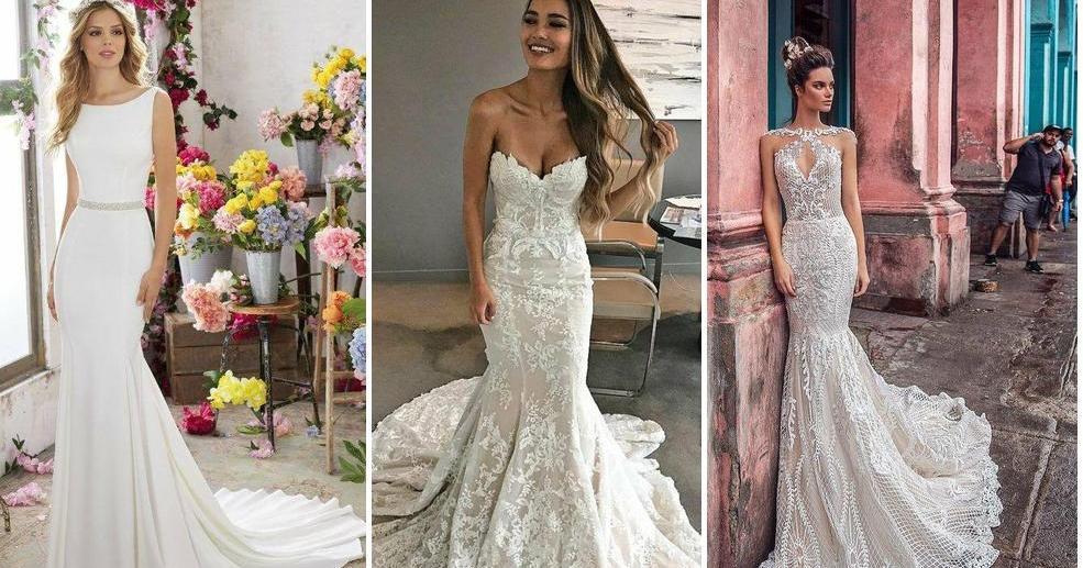873fad772c Vestidos de novia con corte de sirena