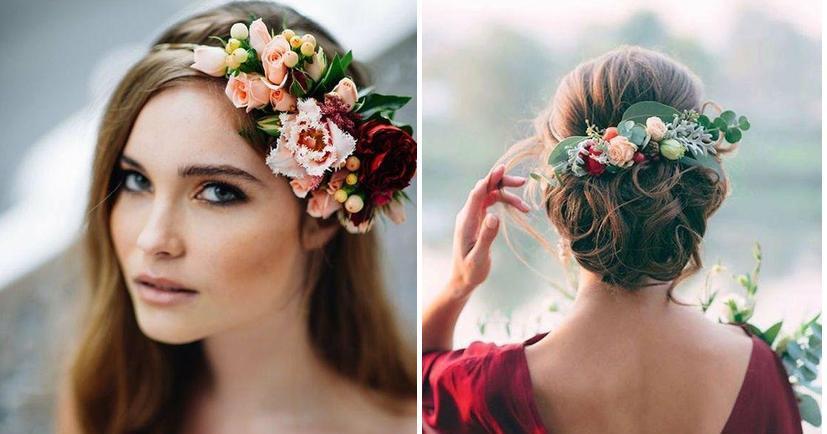 Peinados Con Flores Para Novias Bodas