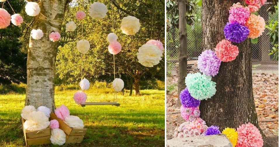 5bd5e8c47 Decorar una boda con pompones | Bodas