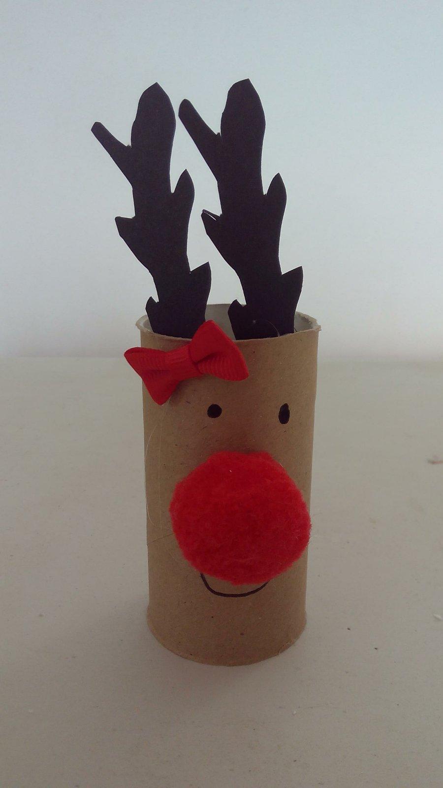 Reno Para Navidad Una Manualidad Divertida Manualidades - Manualidades-con-rollos-de-papel-higienico-para-navidad