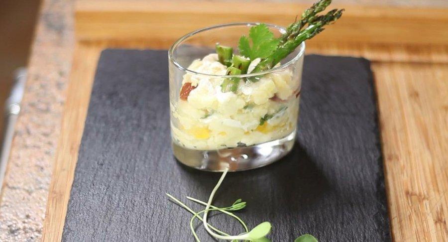 Vasitos de patata y ajonesa el aperitivo ms fcil y barato Cocina