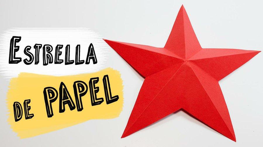 Decorar Estrellas De Navidad En Cartulina.Como Hacer Una Estrella De Papel Muy Facil Manualidades