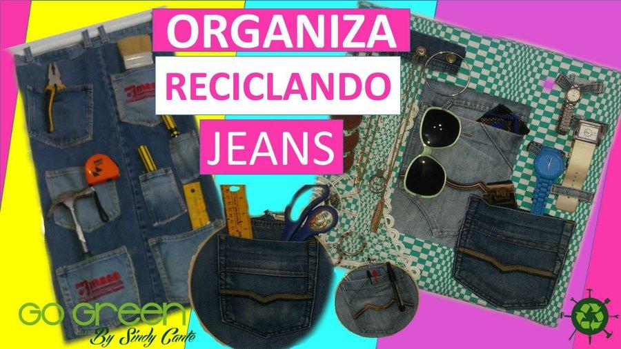 d2ff076c87 Y en esta oportunidad te quiero enseñar 3 ideas de organizadores reciclando jeans  viejos o vaqueros