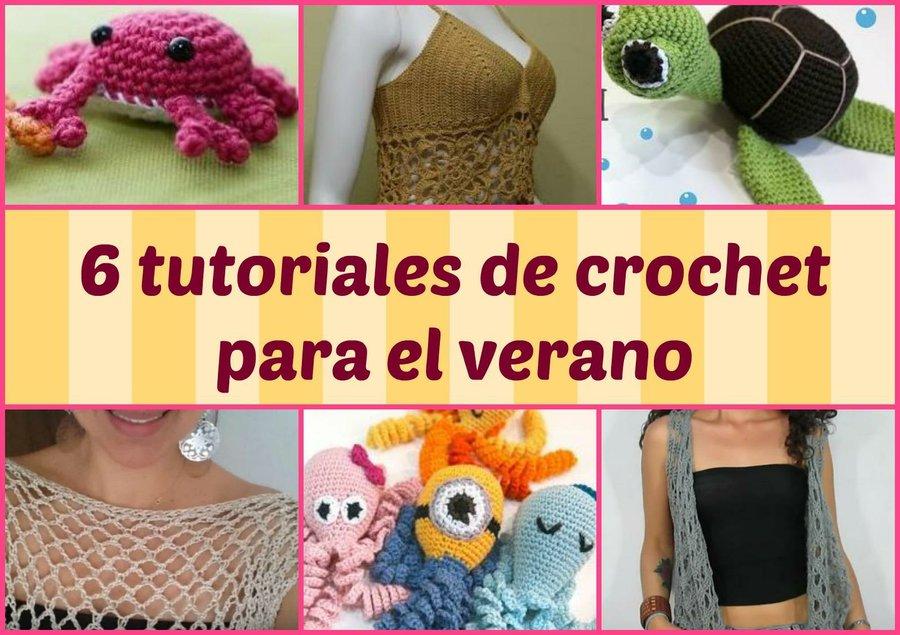 6 tutoriales de crochet para el verano | Manualidades