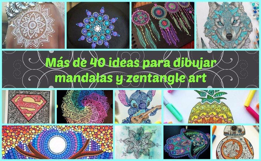 Más De 40 Ideas Para Dibujar Mandalas Y Zentangle Art Manualidades