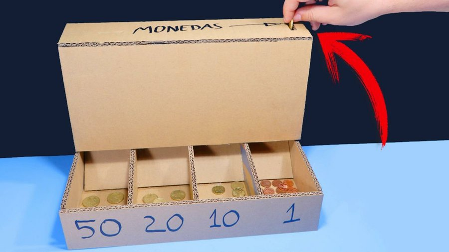 Hecha CartónManualidades Para Monedas Clasificar Máquina De Aj5R34L