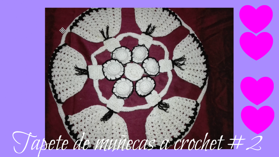 Tapete de muñecas a crochet #3 by Dulce Corazón   Manualidades
