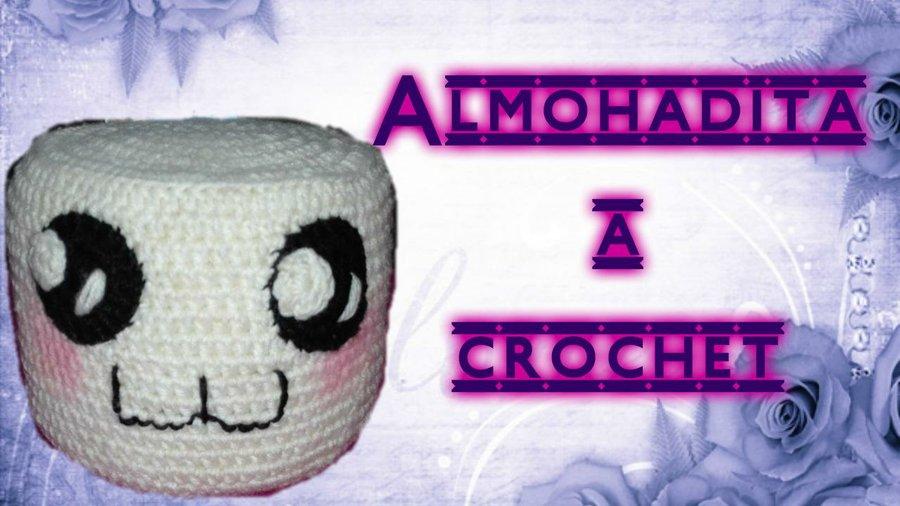Almohada a crochet marshmellow o malvavisco | Manualidades