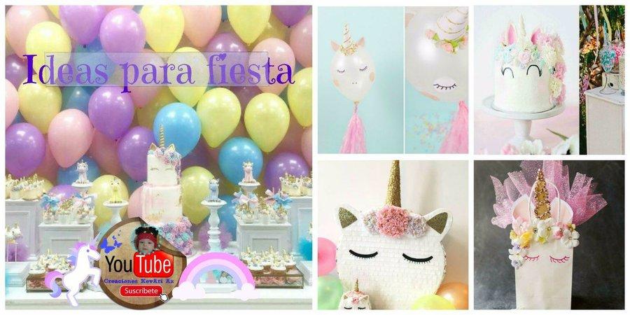 Ideas Para Una Fiesta De Unicornio Manualidades