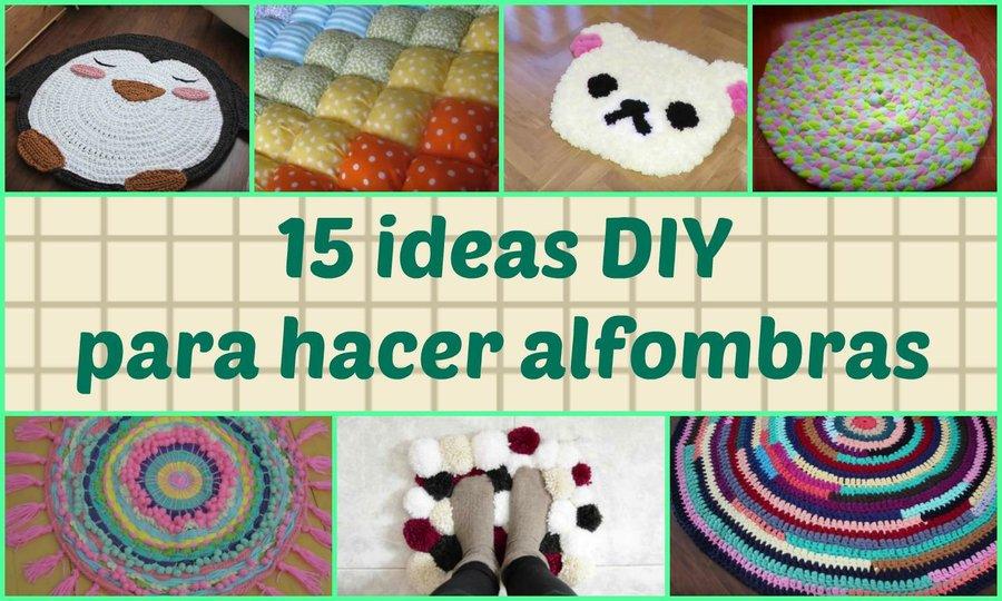15 ideas DIY para hacer alfombras | Manualidades