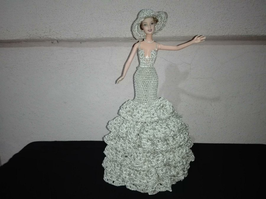 Vestidos de novia tejidos para barbie