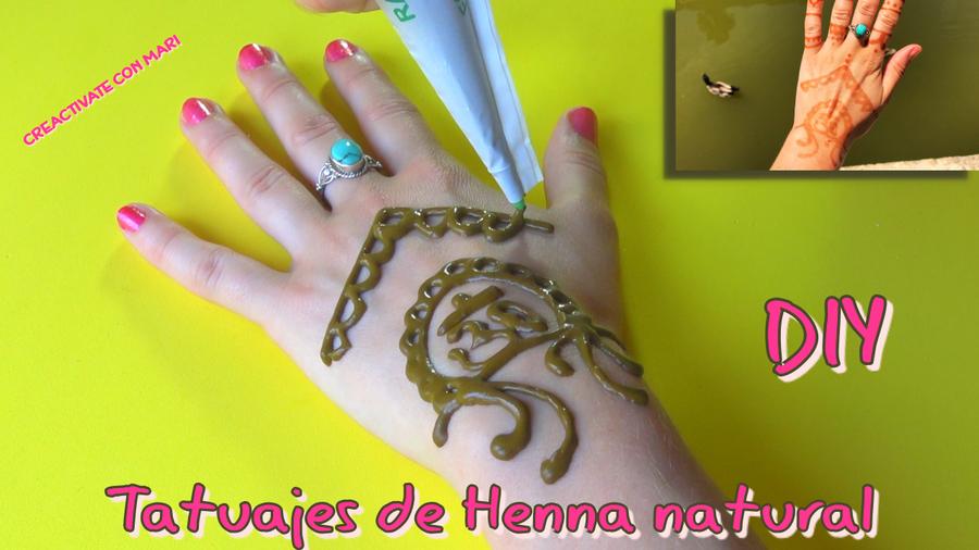 Como Hacer Tatuajes De Henna Caseros