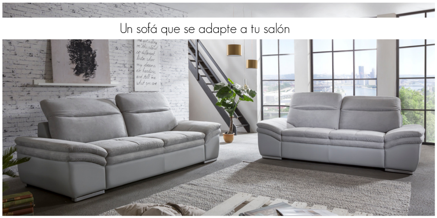 Qu tipo de sof elegir seg n la forma de tu sal n for Sofa 4 plazas mas chaise longue